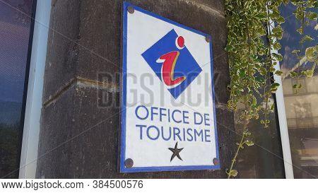 Bordeaux , Aquitaine / France - 09 01 2020 : Office De Tourisme In France Sign And Logo Text Of Fren
