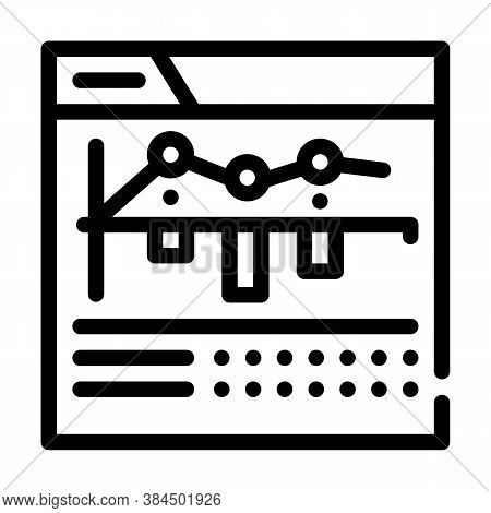 Internet Betting Monitoring Infographic Line Icon Vector Illustration