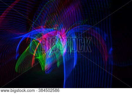 Abstract Pattern Of City Lights From Cars, Windows, Streetlights And Bars