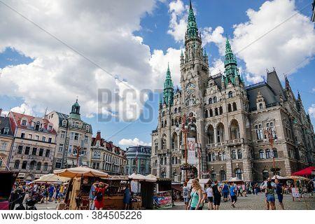 Neorenesance Town Hall, Square Dr. E. Benes, Liberec, North Bohemia, Czech Republic, August 16, 2020