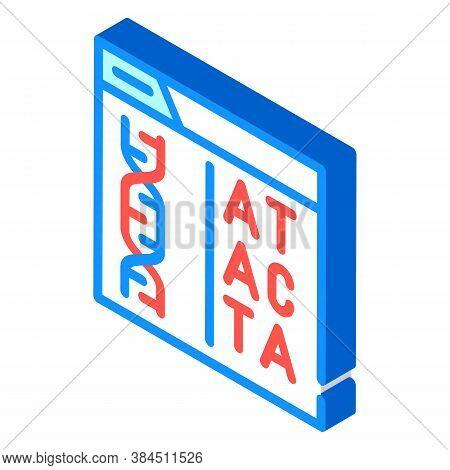 Decoding Dna Code Isometric Icon Vector Illustration