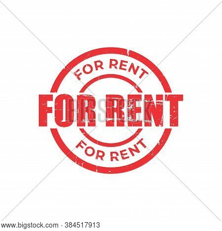 For Rent Stamp. For Rent Square Grunge Sign. Stamp For Rent Grunge, Typeset Typography, Grungy Docum