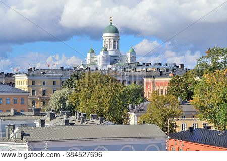 Top-view Of Helsinki In A Sunny Autumn Day