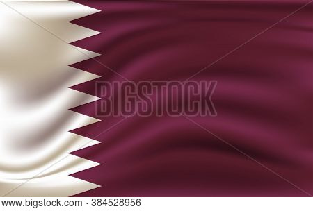 Original And Simple Qatar Flag Isolated Vector In Official Colors And Proportion Correctly