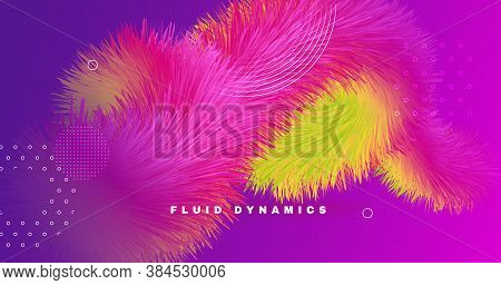 Vibrant Design. 3d Dynamic Motion. Gradient Wallpaper. Liquid Digital Vibrant Design. Creative Neon
