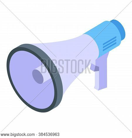Outsource Megaphone Icon. Isometric Of Outsource Megaphone Vector Icon For Web Design Isolated On Wh