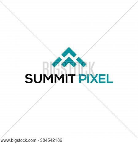 Abstract Summit Logo Geometric Shape Futuristic Illustration Liquid Element 3d Geometry Technology T