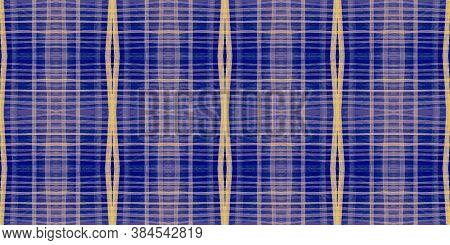 Watercolour Textured Checks. Yellow Picnic Pattern. Scottish Kilt Design. Seamless Buffalo Ornament.