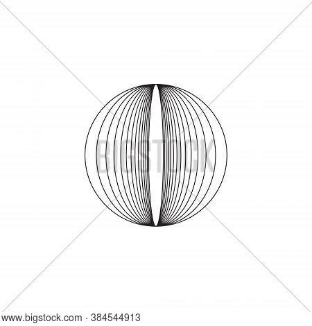 Vortex Circle Logo Abstract Circle Shape - Spiral Motion Twirl Twist Curve Rotation Spin Whirlpool R