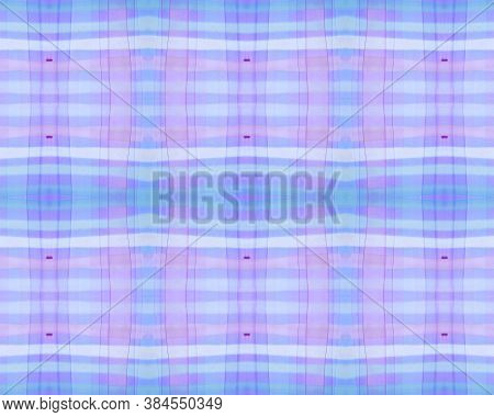 Bright Check Print. Watercolour Plaid Flannel. Color Traditional Stripes For Tweed Design. Seamless