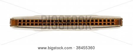 Silver Diatonic Blues Harp Isolated