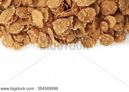 Tasty Chocolate Muesli Isolated On White Background