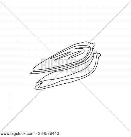 Single Continuous Line Drawing Of Whole Healthy Organic Corn Crop For Farm Logo Identity. Fresh Maiz