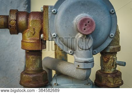 Residential Piping For Natural Gas Meter And Distribution For Domestic Consumption
