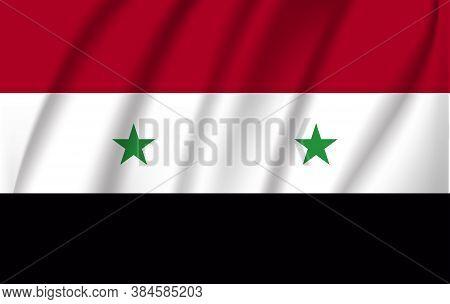 The Flag Of The Syrian Arab Republic Waving. 10 Eps