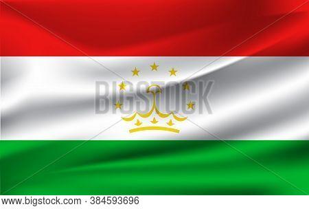 Vector Tajikistan Flag, Tajikistan Flag Illustration, Tajikistan Flag Picture, Tajikistan Flag Image