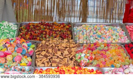 Gummy Candy And Fudge In Trays For Sale