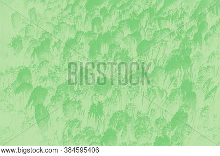 Green Abstract Background With Hyacinths Flowers Pattern. Floral Patchy Pastel Background