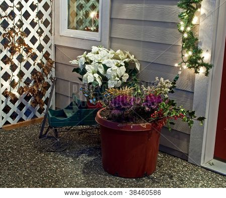 Holiday Porch Scene