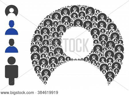 Vector User Account Composition Is Organized With Scattered Self User Account Icons. Fractal Collage