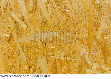 Texture Of Osb (oriented Strand Board) For Background