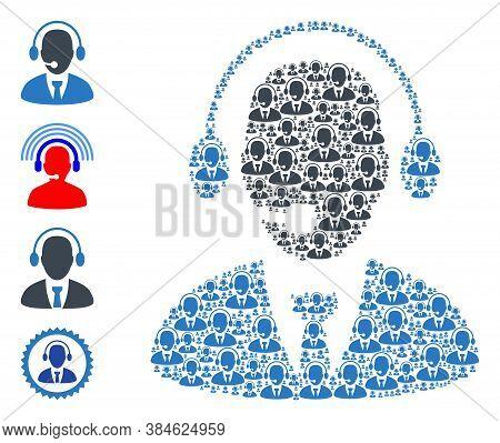 Vector Secretary Collage Is Designed From Randomized Recursive Secretary Icons. Recursive Compositio