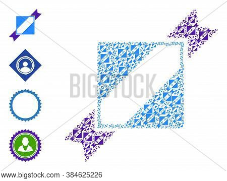 Vector Seal Stamp Template Composition Is Constructed From Scattered Recursive Seal Stamp Template I