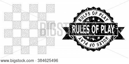 Rules Of Play Dirty Seal Print And Vector Chess Board Mesh Model. Black Seal Has Rules Of Play Capti