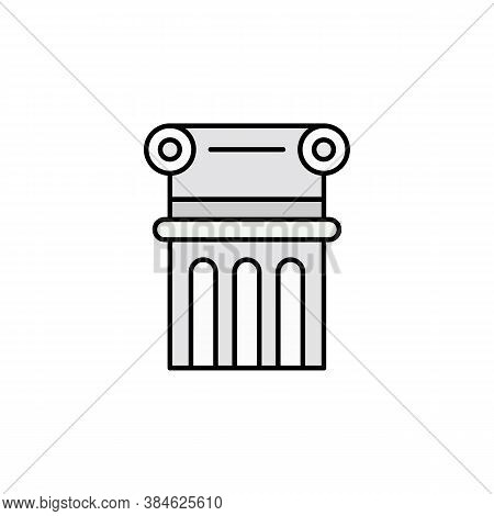 Column, Decoration, Adornment Icon. Element Of Education Illustration. Signs And Symbols Can Be Used