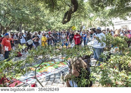 New Orleans, Louisiana/usa - June 30 2018: Anti Trump Immigration Policy Rally At Armstrong Park