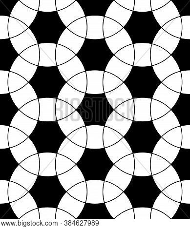 Seamless Surface Pattern Design With Ancient Oriental Ornament. Interlocking Blocks Tessellation. Re