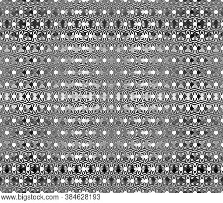 Seamless Surface Pattern Design With Ancient Culture Ornament. Interlocking Blocks Tessellation. Rep