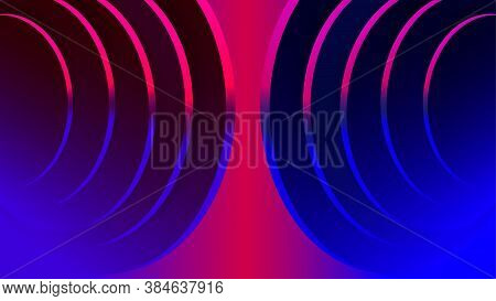 Geometric Round Steps Sound Echo Abstract Texture Vector Background
