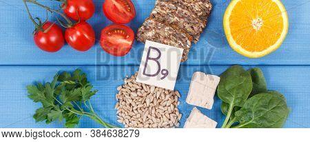Healthy Nutritious Food As Source Folic Acid, Minerals, Vitamin B9 And Dietary Fiber