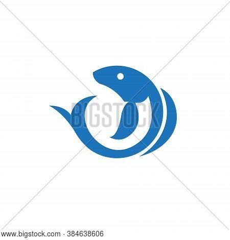Aquatic Fish Circle Abstract Simple Nature Logo
