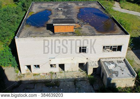 Facade Of The Abandoned Multistory Building In Ukraine