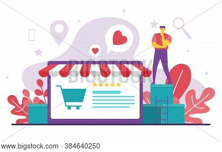 People Digital Marketing Commerce Mobile Shopping Web Analysis Illustration