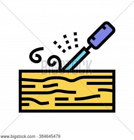 Carpentry Craft Color Icon Vector. Carpentry Craft Sign. Isolated Symbol Illustration