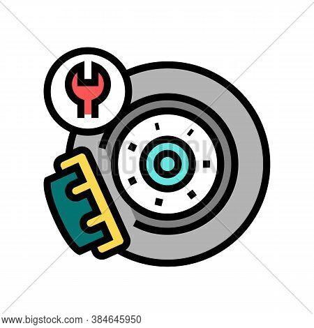Brake Disc Repair Color Icon Vector. Brake Disc Repair Sign. Isolated Symbol Illustration