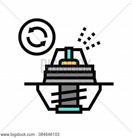 Thermostat Replacement Color Icon Vector. Thermostat Replacement Sign. Isolated Symbol Illustration