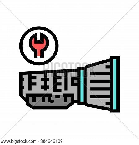 Gearbox Repair Color Icon Vector. Gearbox Repair Sign. Isolated Symbol Illustration
