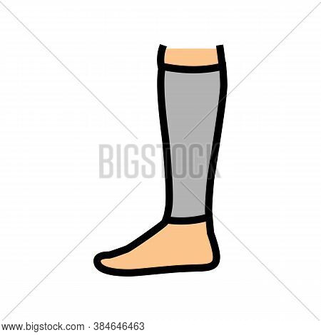 Loose Sock Color Icon Vector. Loose Sock Sign. Isolated Symbol Illustration