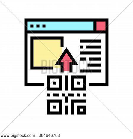 Qr Code Internet Web Site Color Icon Vector. Qr Code Internet Web Site Sign. Isolated Symbol Illustr