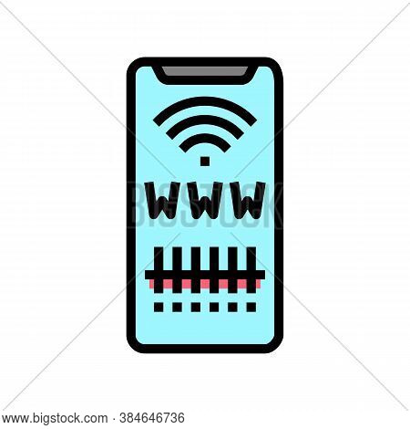 Qr Code For Search Web Site Color Icon Vector. Qr Code For Search Web Site Sign. Isolated Symbol Ill