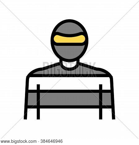 Thief Crime Color Icon Vector. Thief Crime Sign. Isolated Symbol Illustration