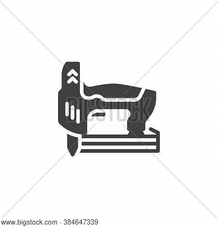 Carpentry Woodworking Tool Vector Icon. Filled Flat Sign For Mobile Concept And Web Design. Cordless