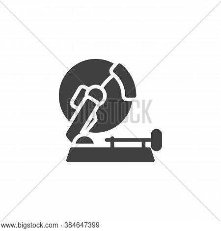 Stationary Circular Saw Vector Icon. Filled Flat Sign For Mobile Concept And Web Design. Mitre Saw G