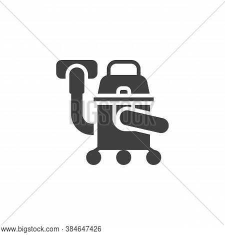 Industrial Vacuum Cleaner Vector Icon. Filled Flat Sign For Mobile Concept And Web Design. Vacuum Cl