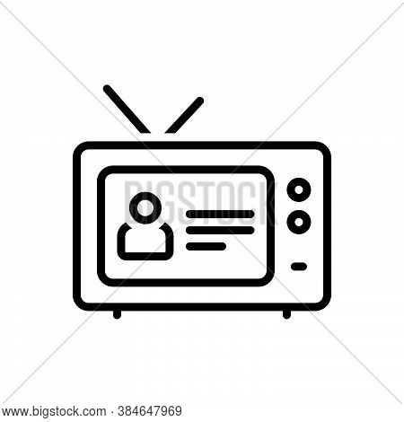 Black Line Icon For Episode Dramatic-event Program Cinema Action Entertainment Television Cinematogr