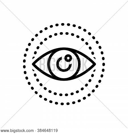 Black Line Icon For Look Vision See View Sight Watch Eyesight Eyeball Glimmers Optical